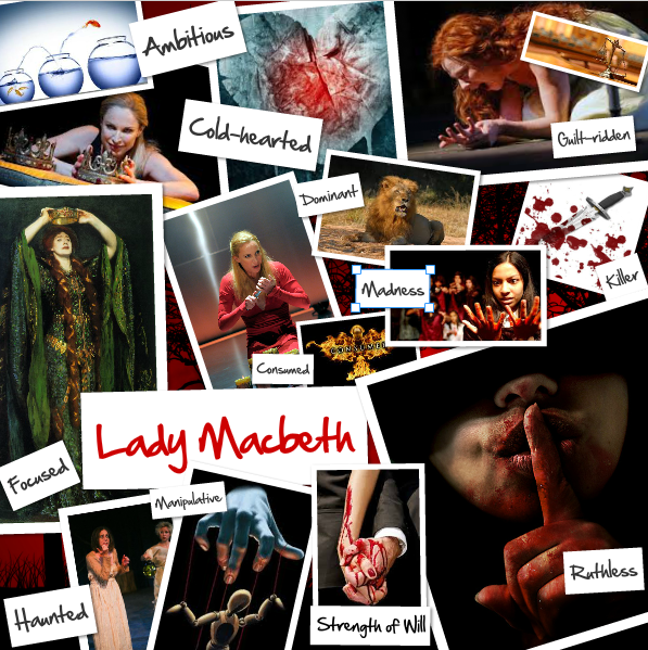 Lady Macbeth Collage Miss Heckenlaible